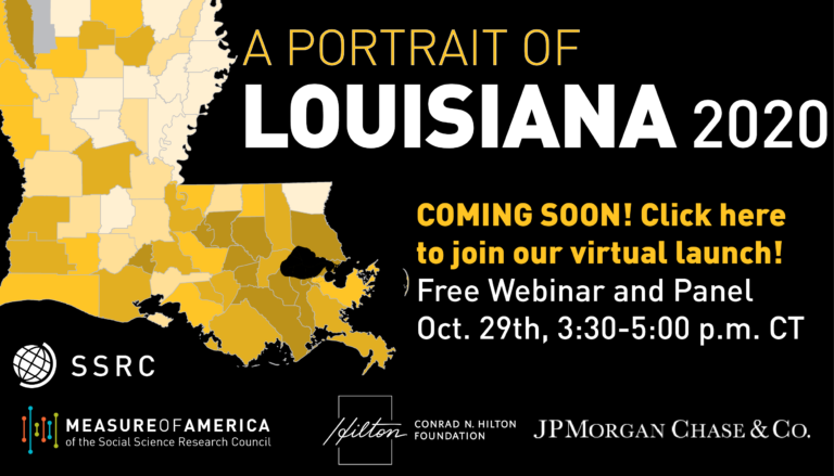 A Portrait of Louisiana 2020 will launch October 29th, 2020! Register here!
